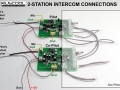 2-Station Intercom Connections - A1